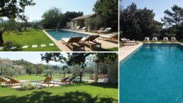 This luxury property overlooking the famous village of Eygalières, has high quality services and amenities with its heated pool