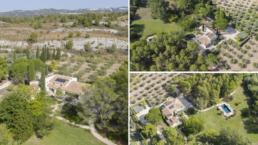 Located in the heart of the Alpilles natural park, this farmhouse enjoys a breathtaking view in peace with fitness room and home cinema